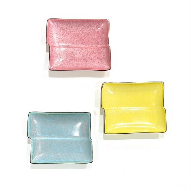 縁プラチナ  角型お手塩皿