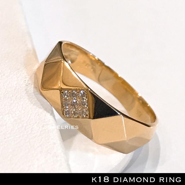 リング 18金 ダイヤ k18 天然ダイヤモンド リング / k18 diamonds  ring