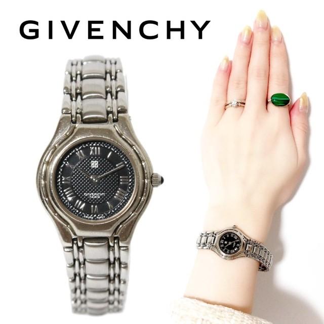 GIVENCHY ジバンシー ヴィンテージ シルバーQZ腕時計