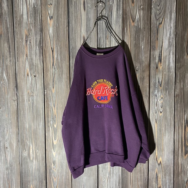[Hard Rock Cafe]California dark purple sweat