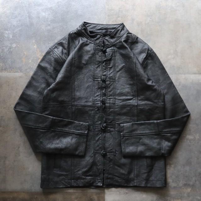 Black China design leather jacket