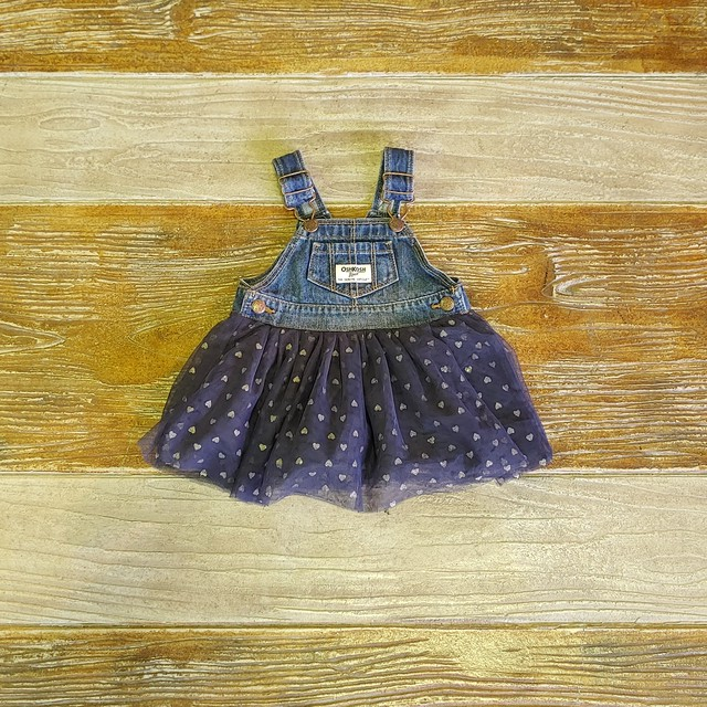 【BABY USED】Oshkosh Overall Skirt*6M