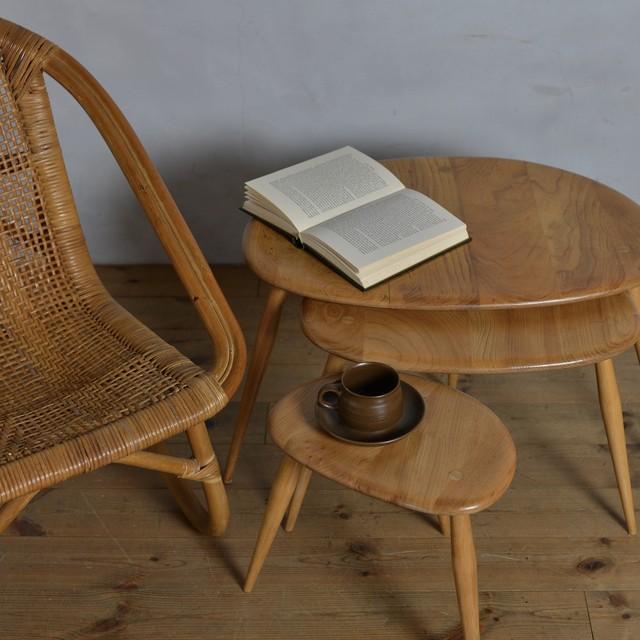 Ercol Nest of Table  / アーコール ネスト オブ テーブル 〈コーヒーテーブル・センターテーブル・サイドテーブル〉