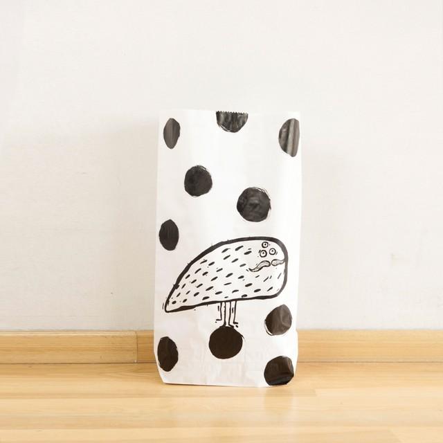 Flea in polka dots - Paper bag 53cm