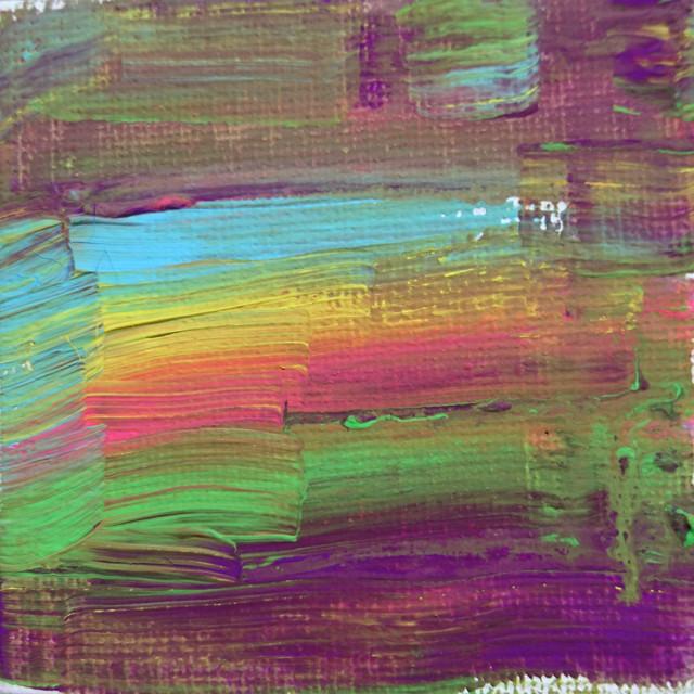 絵画 絵 ピクチャー 縁起画 モダン シェアハウス アートパネル アート art 14cm×14cm 一人暮らし 送料無料 インテリア 雑貨 壁掛け 置物 おしゃれ 現代アート 抽象画 : ごま 作品 : 夕焼け