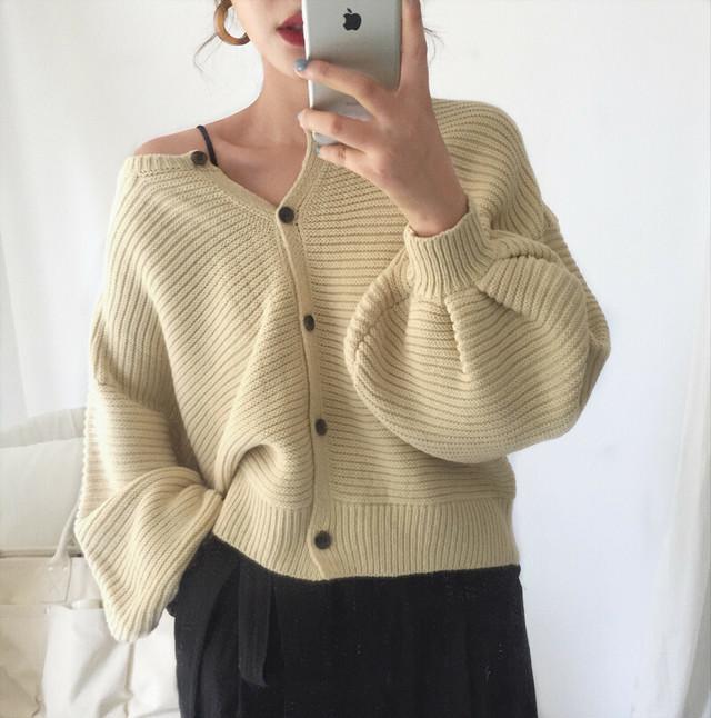 可愛いボリューム袖 ♡カーディガン