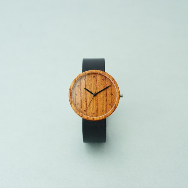 Zelkova wood - Black - L