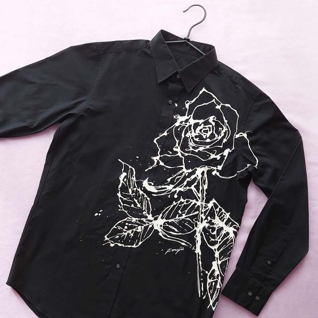 F's rose【 藤井清秀  シャツアート】薔薇 L B-7