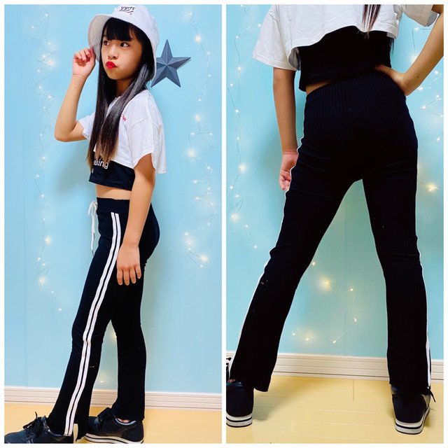 【Yuma×dance】 110~150cm ★  ボトムス パンツ スポーティ レギンス フレアパンツ