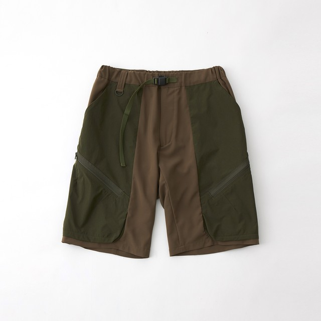 STRETCED CARGO SHORT PANTS - KHAKI