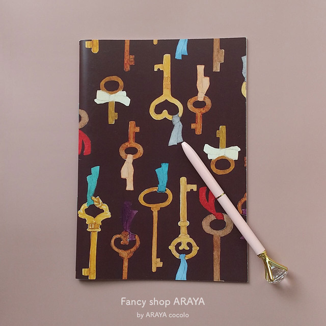 "A5ノート ""Key and ribbon"" / Note book"