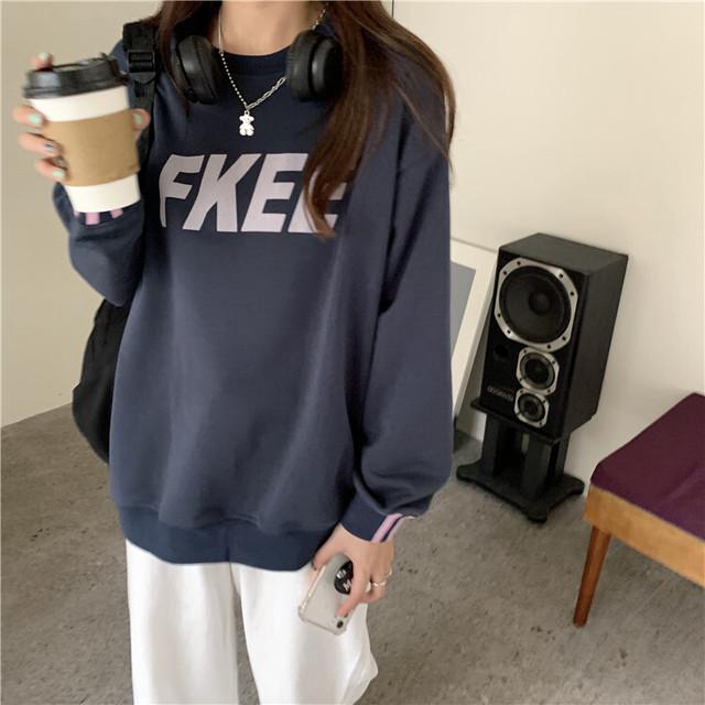 【送料無料】FKEEクルーネックトレーナー♡トップス トレーナー FKEE カジュアル 着回し お家コーデ