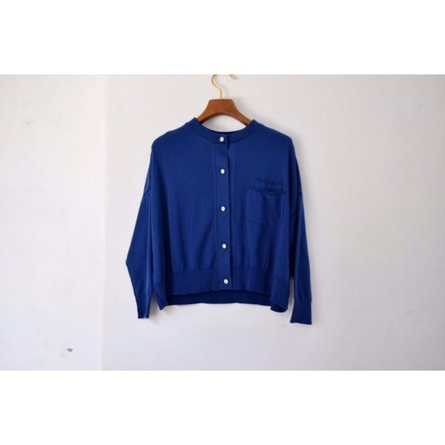 Simva115-0004-Blue 18G Drop Shoulder Cardigan