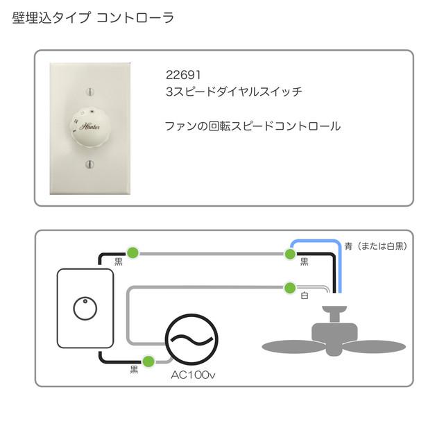 3スピード ダイヤル スイッチ ( 回転スピード切替専用)     - メイン画像
