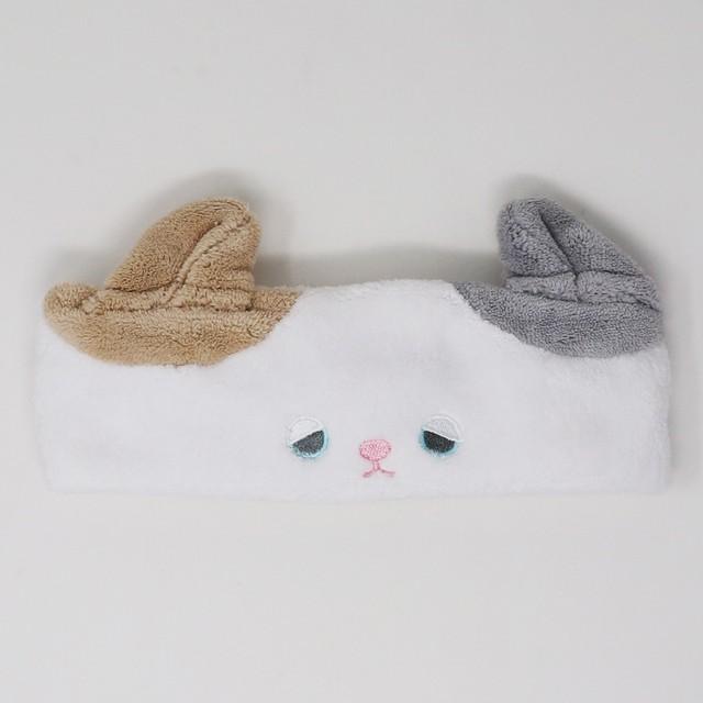 猫ヘアバンド(吸水速乾タオルゆず)