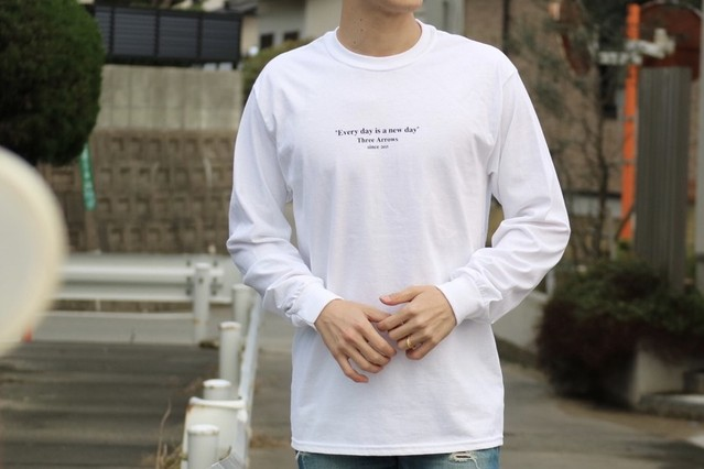 ThreeArrows Message L/S TEE(white)