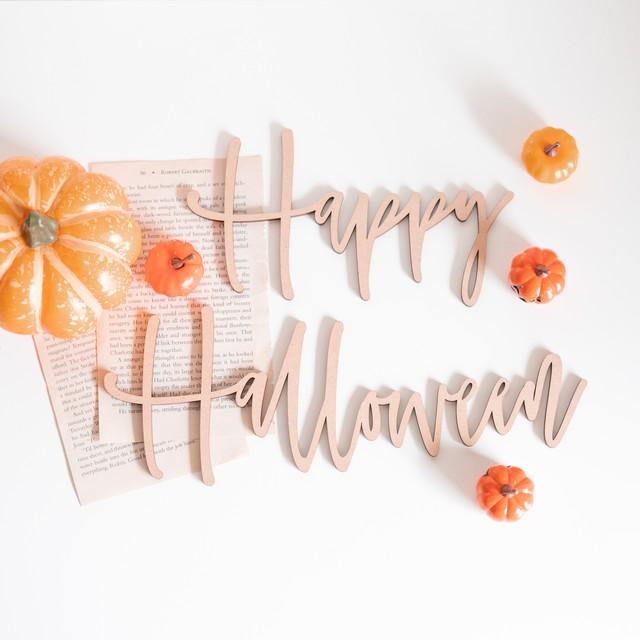 木製 / ハロウィン プレート[A or B] Happy Halloween