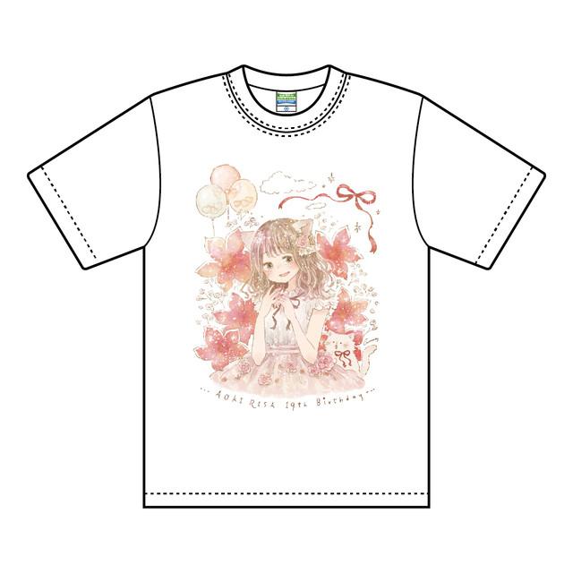 青木りさTシャツ ホワイト / Lサイズ【NIG021】