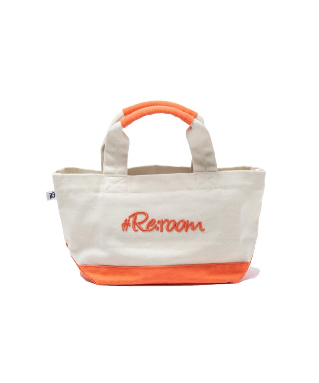 3D LOGO BICOLOR SMALL CANVAS TOTE BAG[REB025]