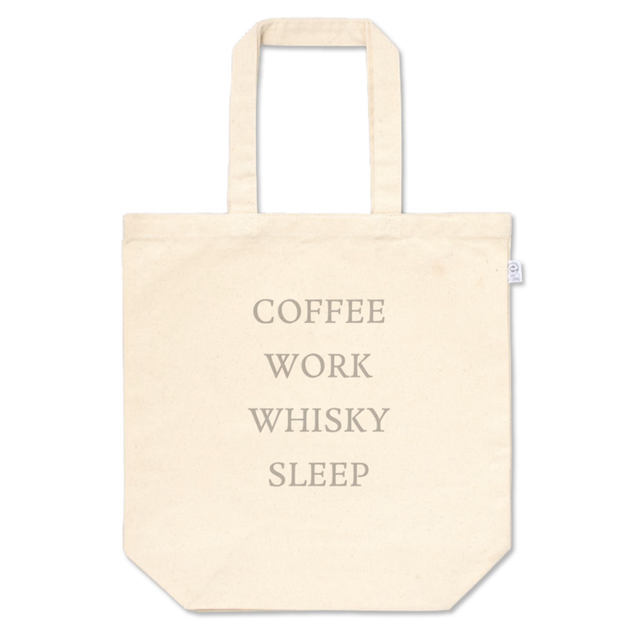 COFFEE WORK WHISKY SLEEP トートバッグ