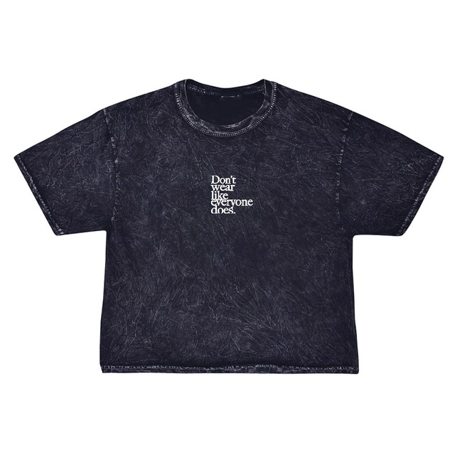 Don't wear like everyone does. Mini Embroidery Tee