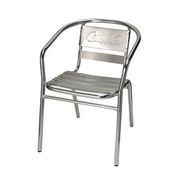 コカコーラ 人気のアルミ製チェア  COCA-COLA BRAND コカコーラブランド アルミニウムチェア 「Coke Alminium Chair」 PJ-170C インテリア 家具 アメリカ雑貨 アメリカン雑貨
