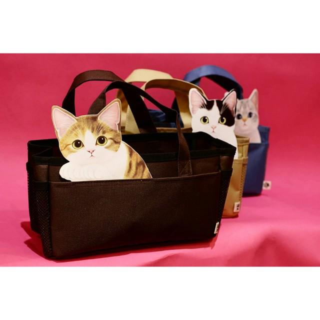 猫顔はみ出し収納バック【ネコ雑貨】/浜松雑貨屋 C0pernicus
