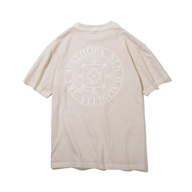 DIASPORA SKATEBOARDS Dyed Magic Circle Tee Vanila