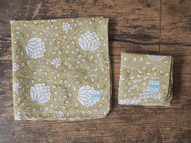 156ri049 Block Print Handkerchief 7