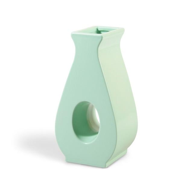 &k amsterdam - Flower Vase - Gap mint