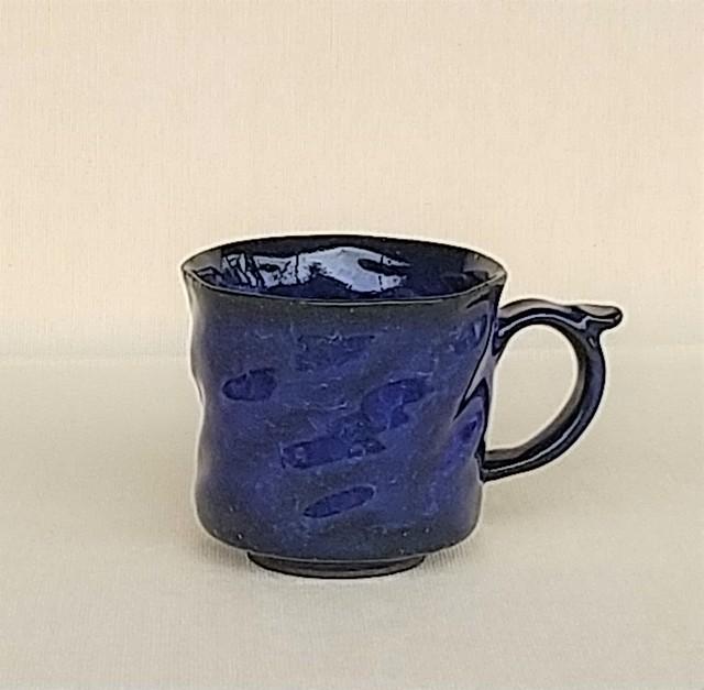 桜窯 みかげ ブルー マグカップ