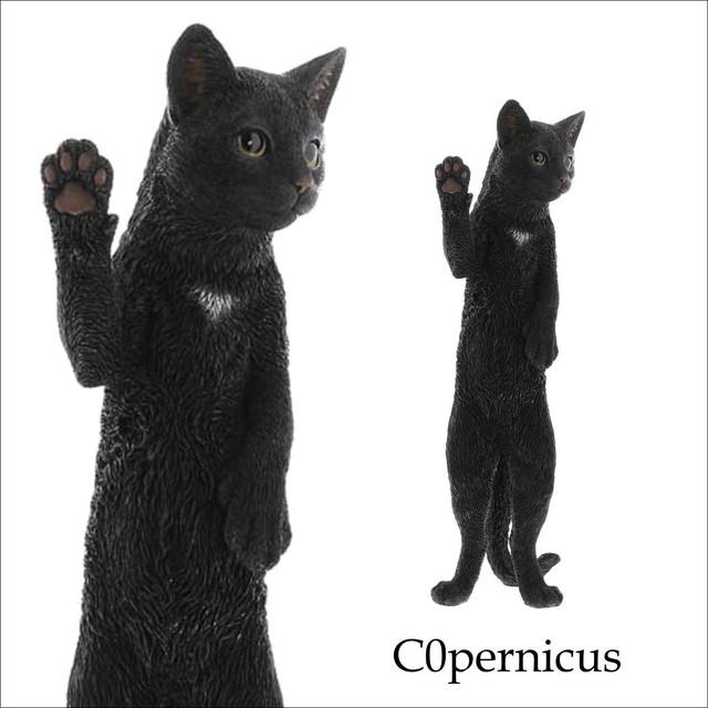 ネコオブジェ F 黒 猫 置物 ネコ雑貨/浜松雑貨屋C0pernicus
