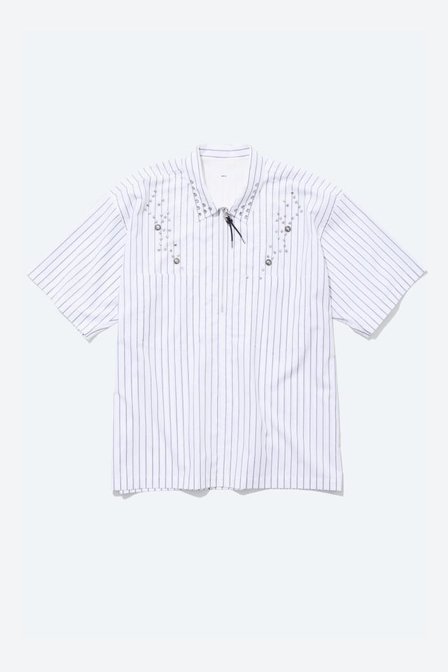 【TOGA VIRILIS】《21SS》タイプライターストライプシャツ White TV11-FJ307