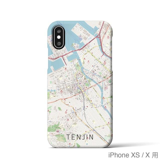 【天神】地図柄iPhoneケース(バックカバータイプ・ナチュラル)
