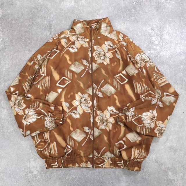 Flower art design blouson