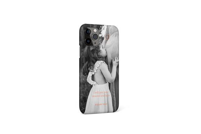 あなたの写真で作るオリジナルiPhoneケースE / 多機種対応可 / 文字色・ケース色変更可