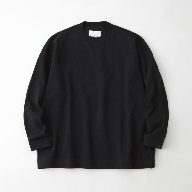 LOOPWHEELER × WM CREW SWEAT - BLACK