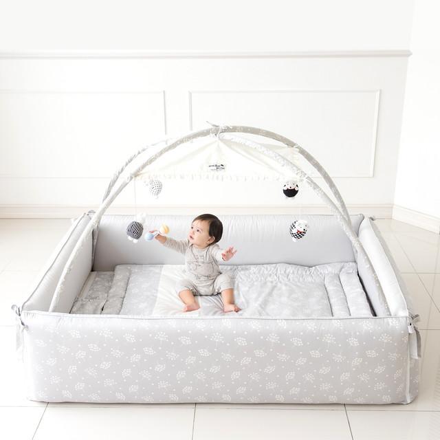 バンパーベッド Hol-c グレー レギュラーサイズ ベビー 赤ちゃん サークル ベッド ベビーサークル