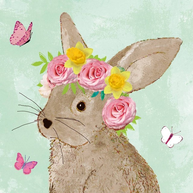 【Paperproducts Design】バラ売り2枚 ランチサイズ ペーパーナプキン Easter Beauty グリーン