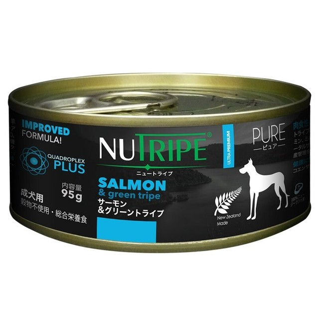 【NUTRIPE(ニュートライプ)】サーモン&グリーントライプ 95g