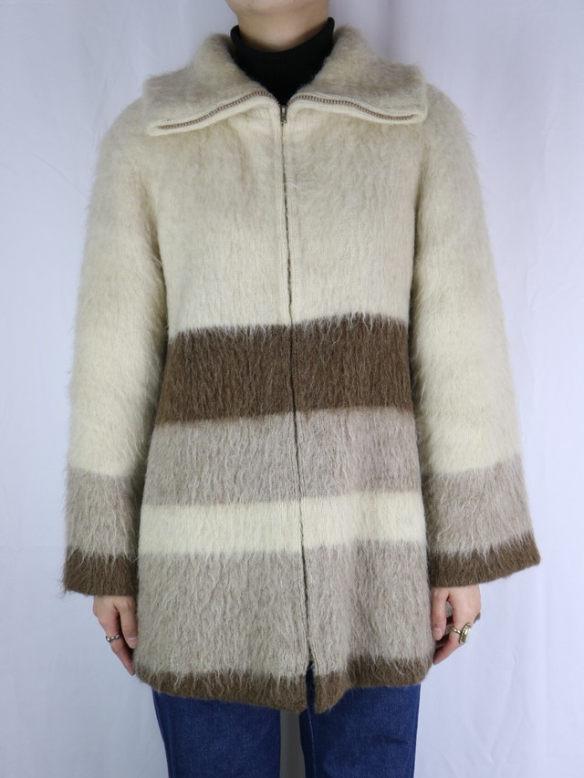 knit zip jacket【5082】