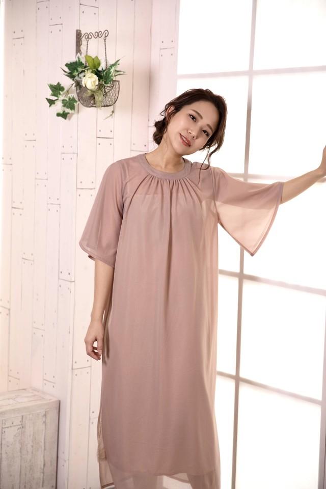 sheer-like tricot dress