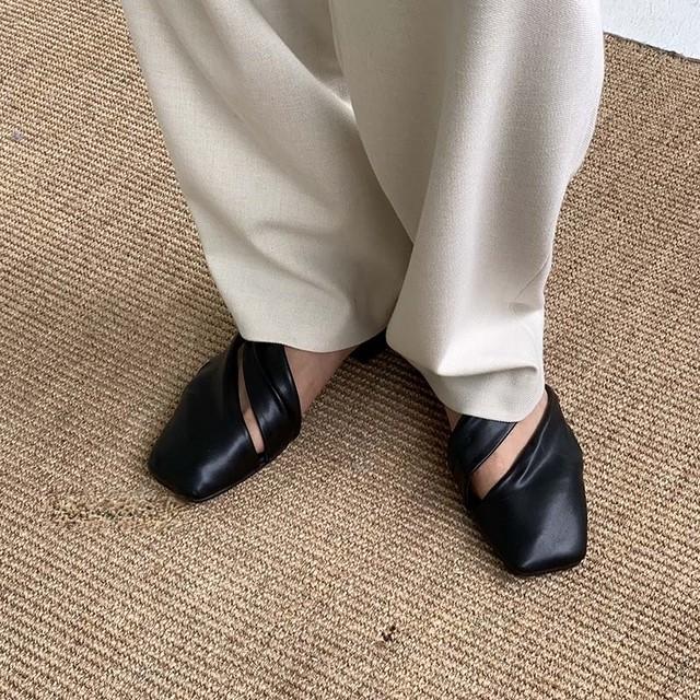 Square toe design shoes(スクエアトゥデザインシューズ) a-655