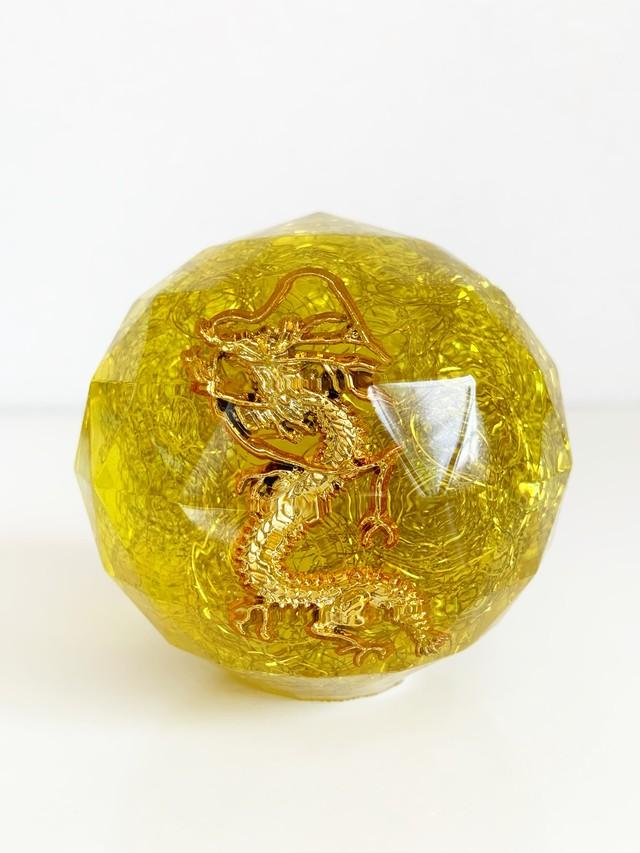 【特大宝珠オルゴナイト・38】黄龍(細かな気泡あり)