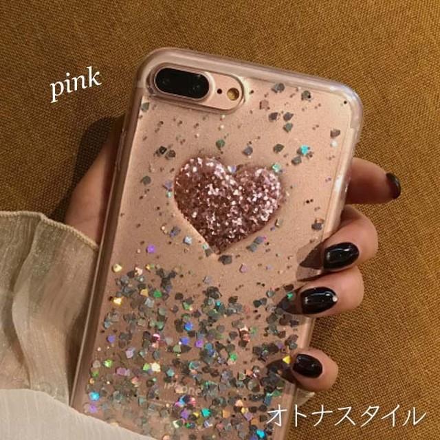 【予約】ハート キラキラ スパンコール 流れる おもしろ おしゃれ iphoneケース6/6S