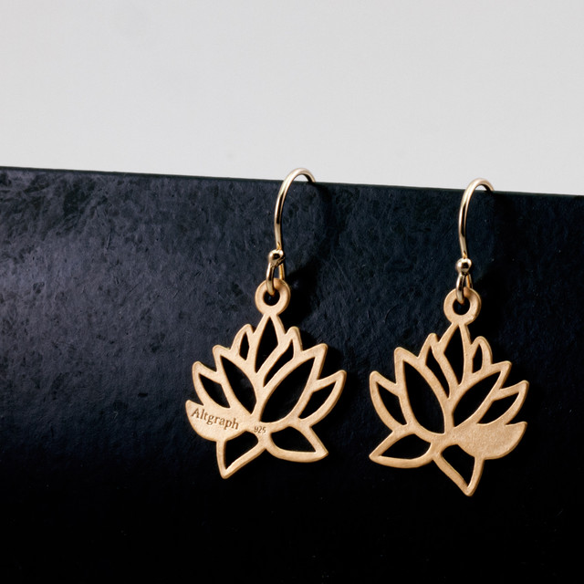 Lotus earrings / L