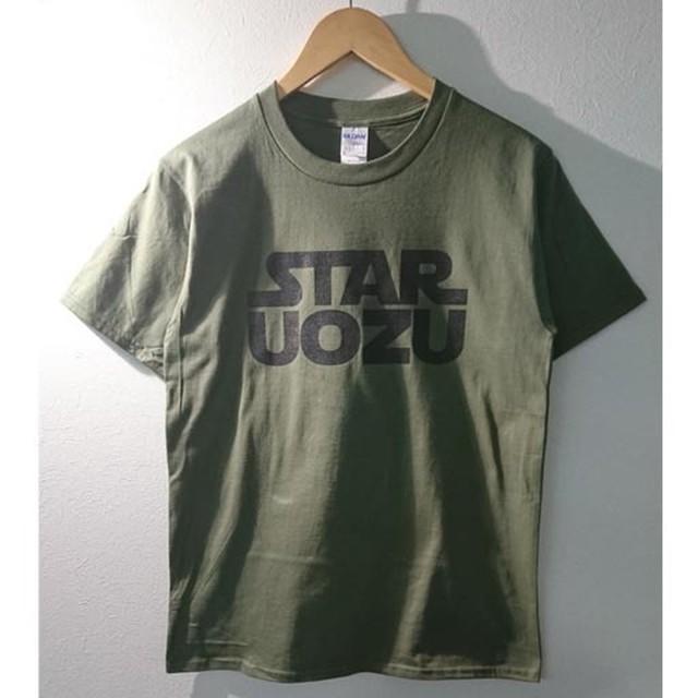 STAR UOZU Tシャツ ミリタリーグリーン×ブラック