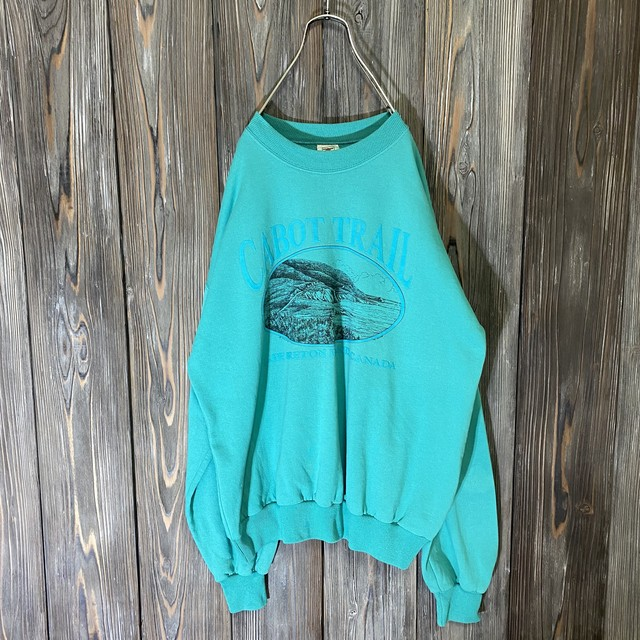 [used]mint blue view design  sweat