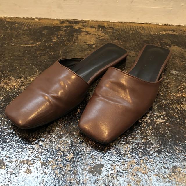 square brown sandal