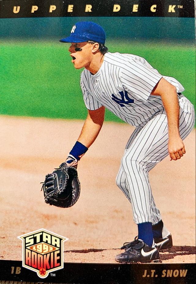 MLBカード 93UPPERDECK J.T.Snow STAR ROOKIE  #023 YANKEES